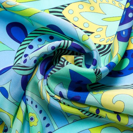 Silk scarf S Pucci Style green