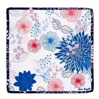 Silk scarf S twill Tres belle  blue