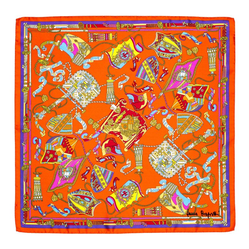 Esarfa matase S twill Parisienne orange