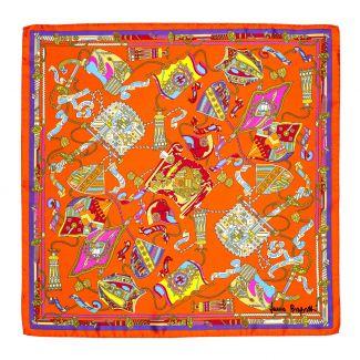 Silk scarf S twill Parisienne orange