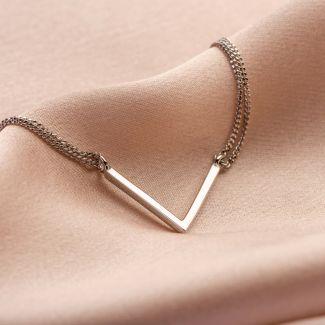 V for Victory silver bracelet