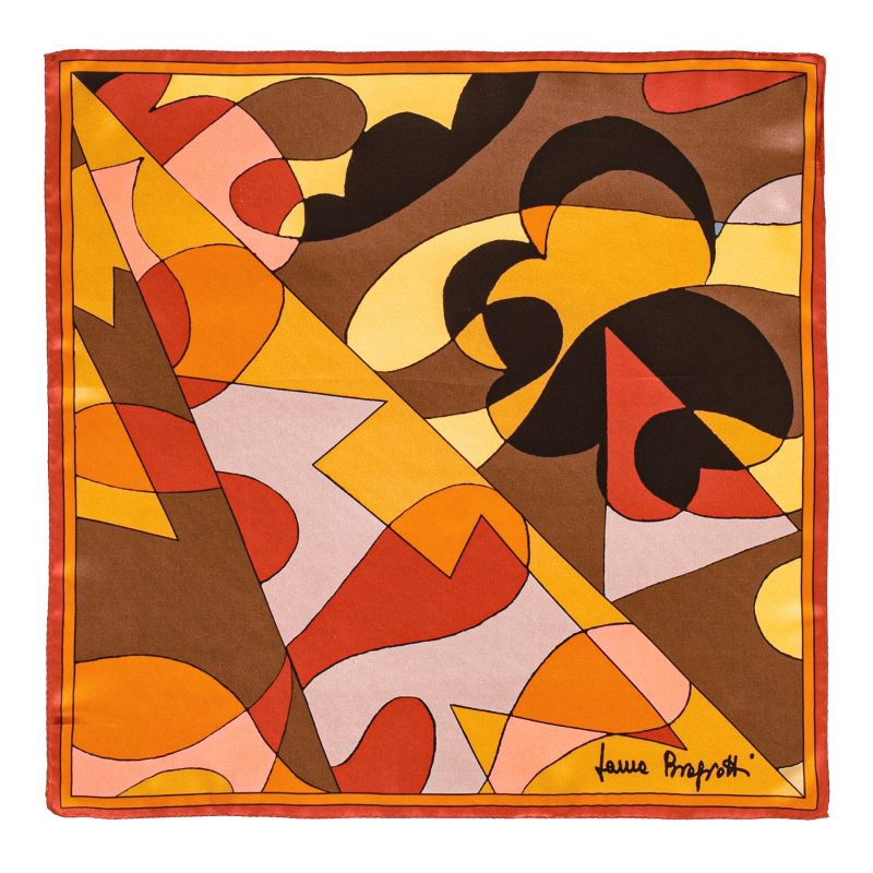 Silk Scarf Laura Biagiotti golden abstract