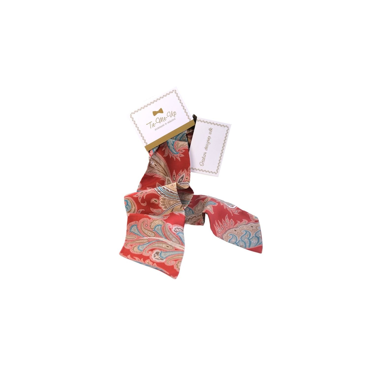 Luxury gift: Marsala Silk Scarf and Bow