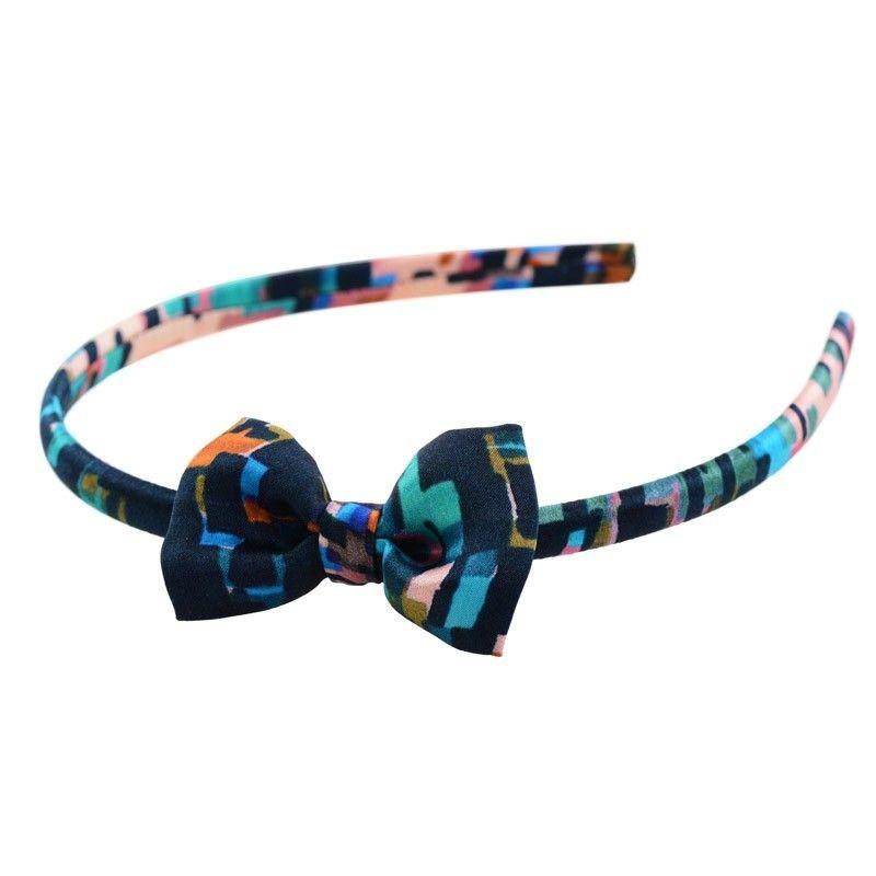 Green bow headband
