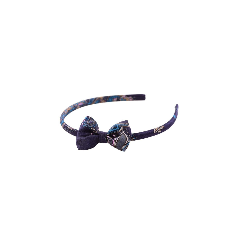 Paisley bleumarin bow headband