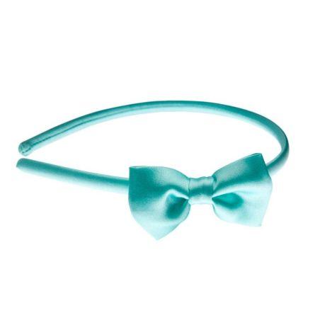 Turquoise bow headband