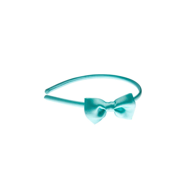 Headband turcoaz cu fundiţă