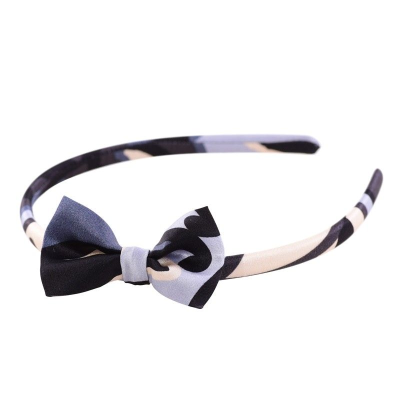Graffic grey bow headband