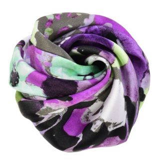 Purple green aquarela hair rose