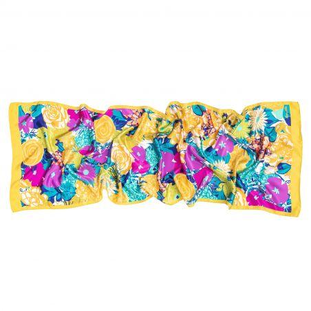 Silk shawl Perfume d ete yellow