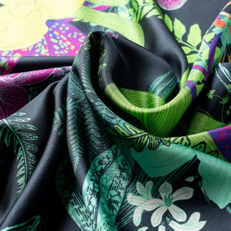 Esarfa matase twill Perfect Style green