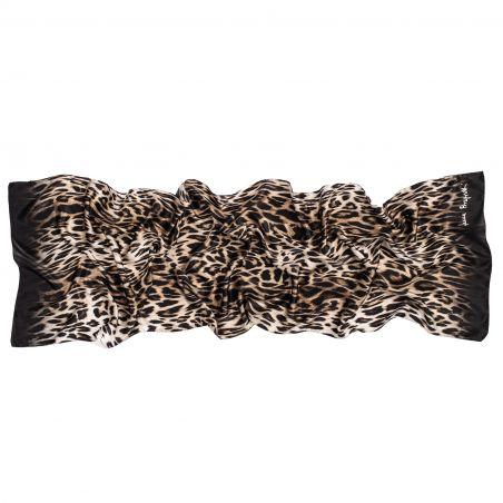 Silk shawl Animal Print black