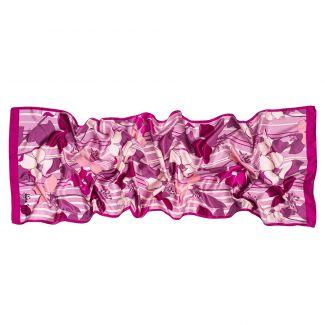 Silk shawl Bold as Love magenta