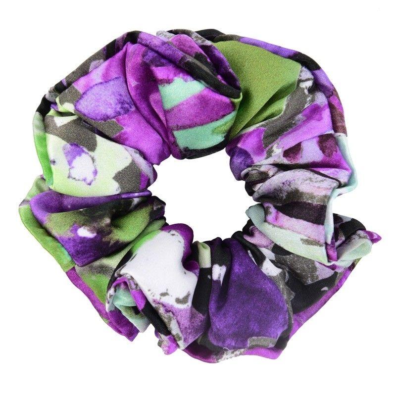 Purple green aquarela hair twist
