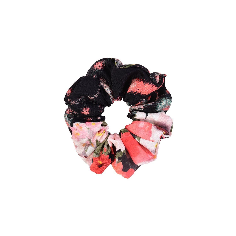 Hair Twist MC flori corai pe negru