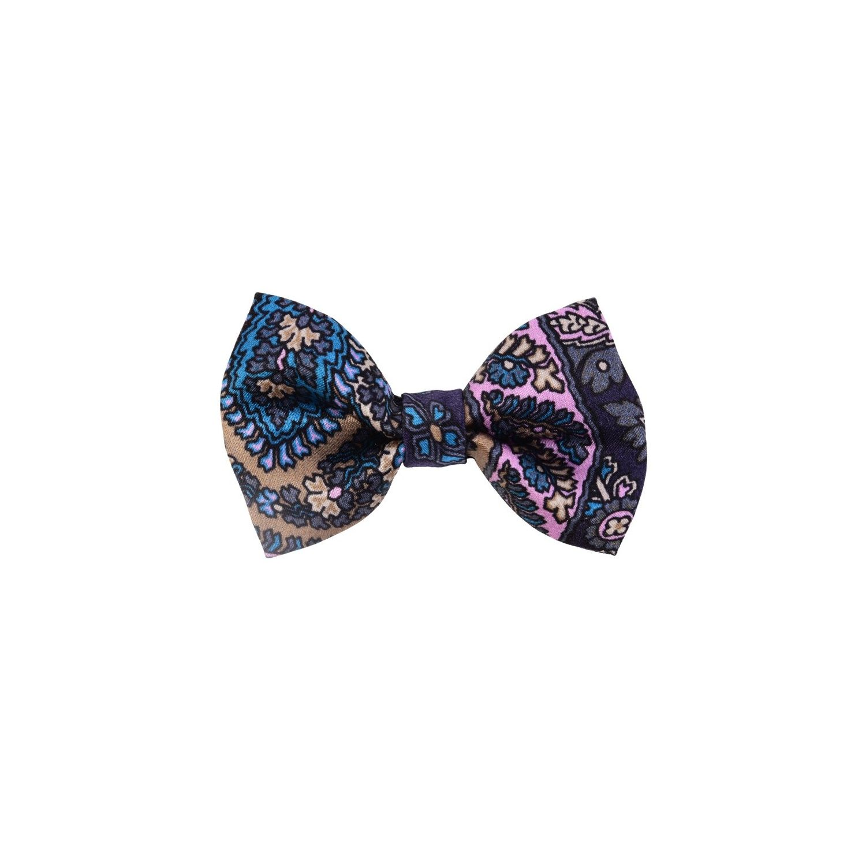 Paisley bleumarin bow