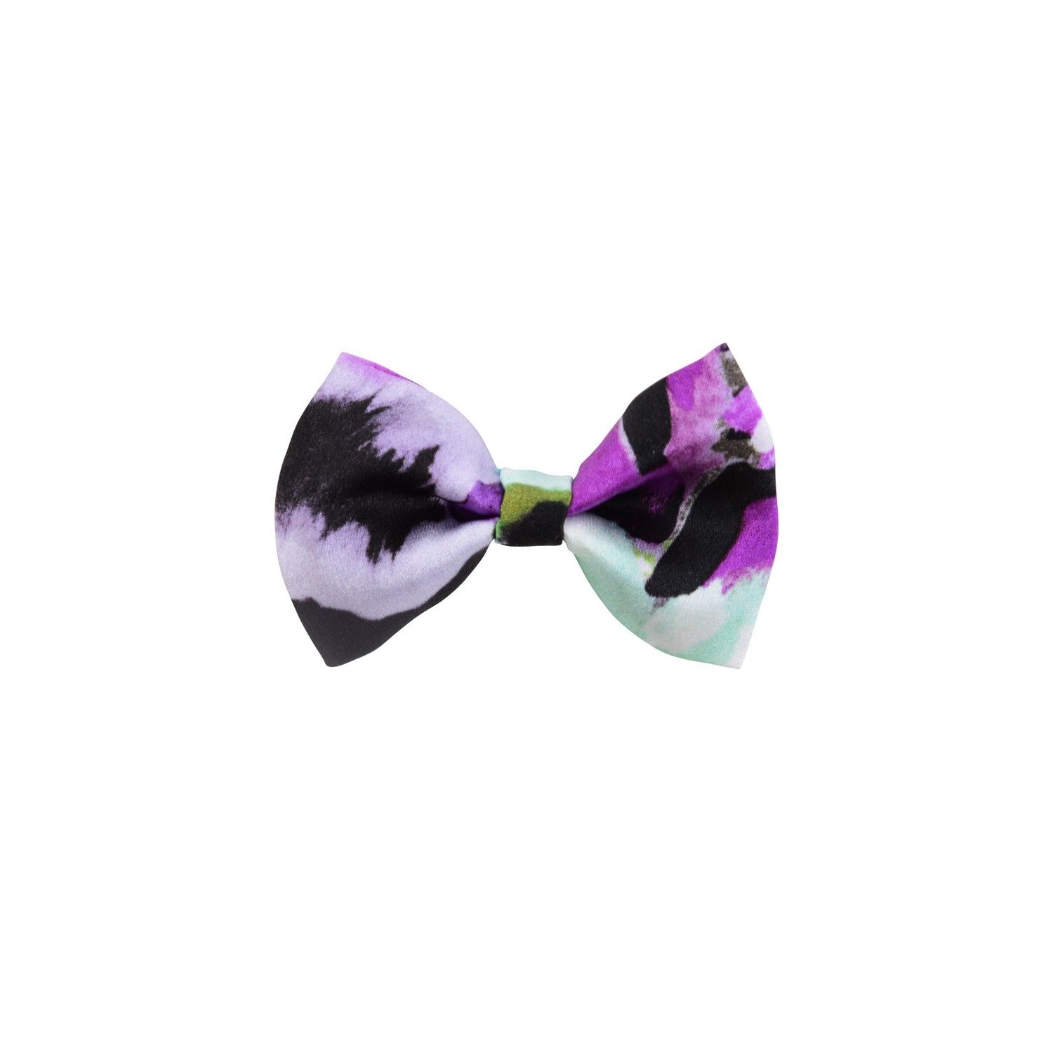 Purple green aquarela bow