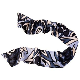 Graffic grey Silk Scarf