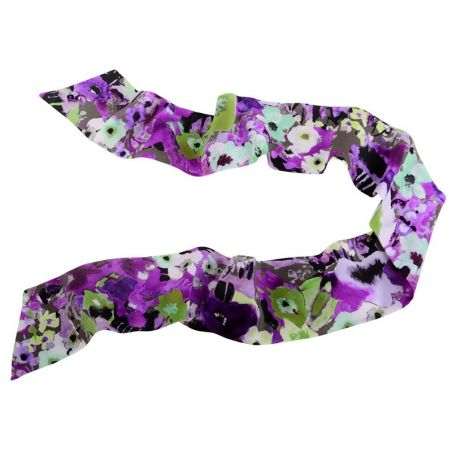 Purple green aquarela Silk Scarf