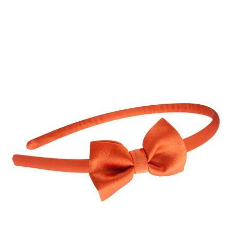 Headband portocaliu cu fundita