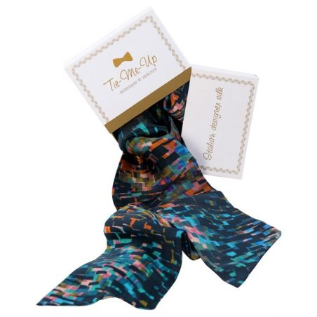 Luxury gift: Toscana Blues Silk Scarf and Bow