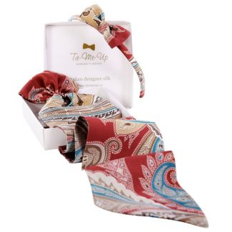 Luxury gift: Marsala Luxury Frill Scarf and Bowed Headband