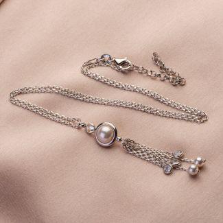Colier argint Cocktail Pearls