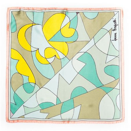 Silk Scarf Laura Biagiotti abstract aqua