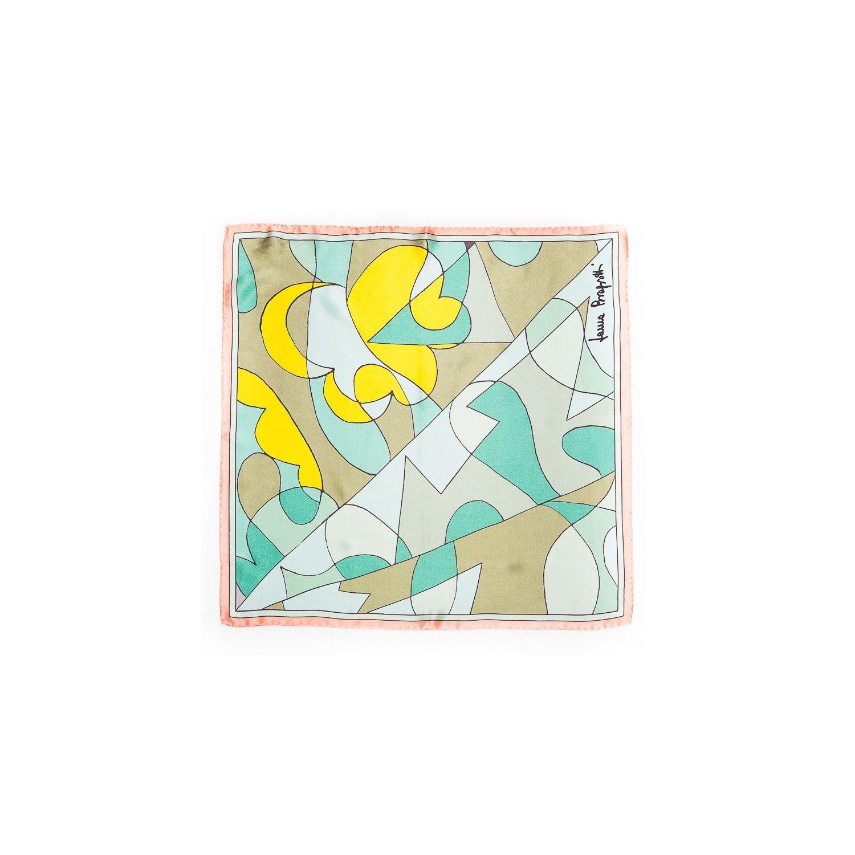 Esarfa matase naturala Laura Biagiotti abstract aqua