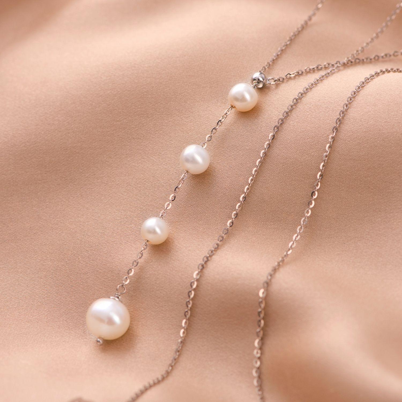 Colier argint reglabil Pearls White Rain