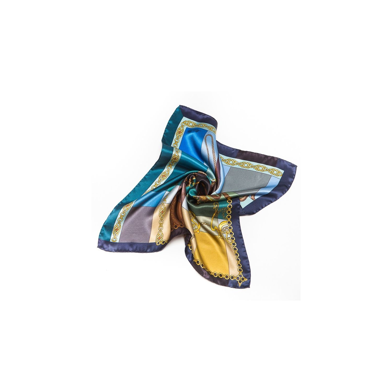 Silk Scarf Marina D`Este Voyage blue