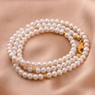 Bratara argint So Cool 2 in 1 perle albe