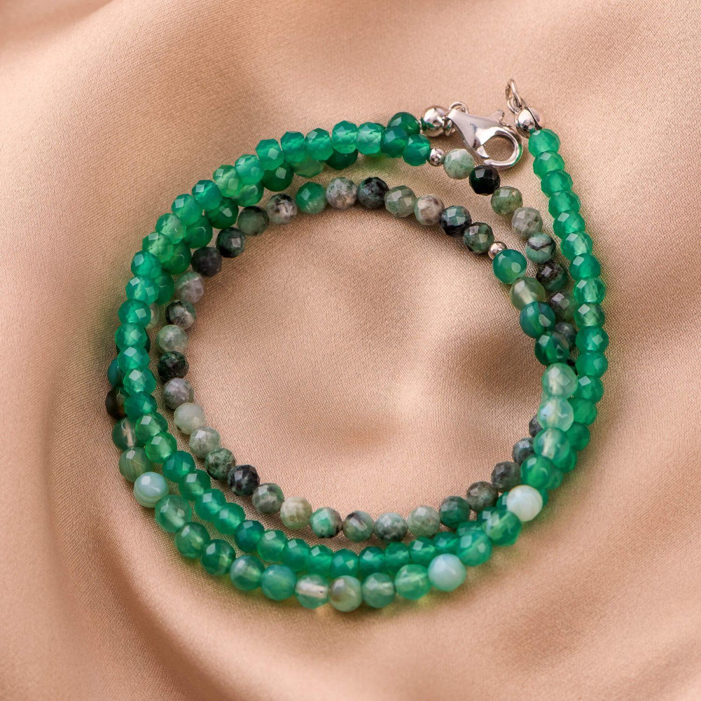 Bratara argint So Cool 2 in 1 agat verde
