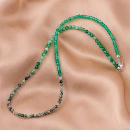 Bratara argint So Cool 2 in 1 agat verde, smarald
