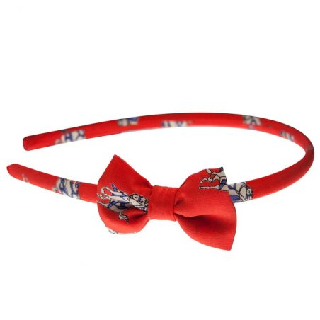 Headband Hot Red Jeans cu fundita