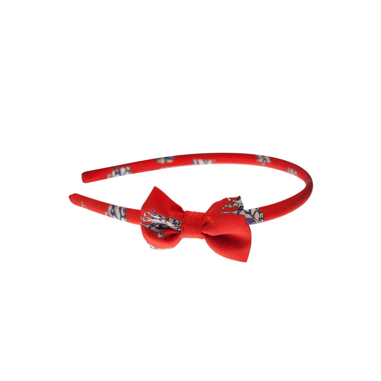 Headband Hot Red Jeans cu fundiţă