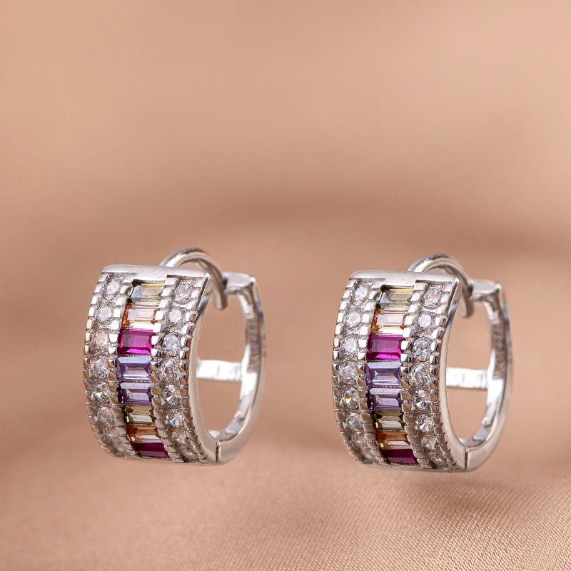 Cercei argint Beverly Hills Lights silver