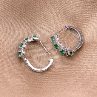 Cercei argint Miss Posh emerald zirconia