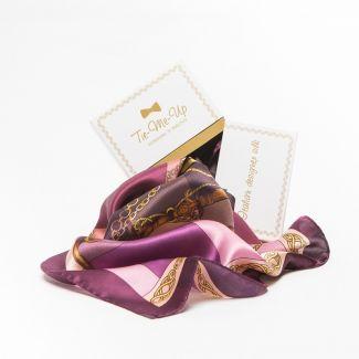 Silk Scarf Marina D`Este Voyage purple