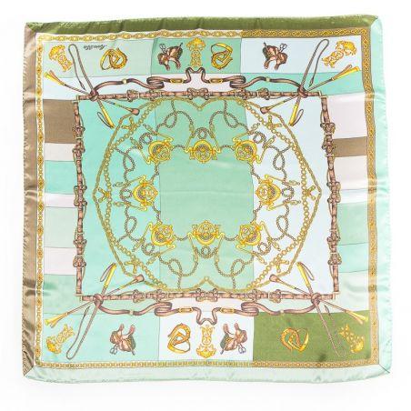 Luxury Gift: Marina D'Este Sienna aqua and silk bow clip