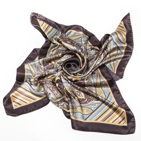 Luxury Gift: Silk Scarf Marina D'Este paisley earth
