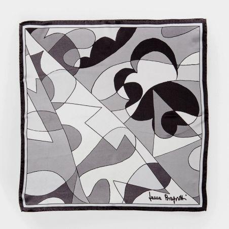 CADOU: Esarfa matase naturala Laura Biagiotti black abstract