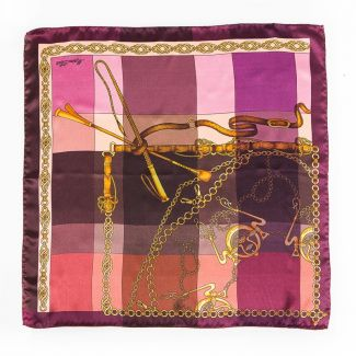 Luxury Gift: Silk Scarf Marina D'Este Voyage purple