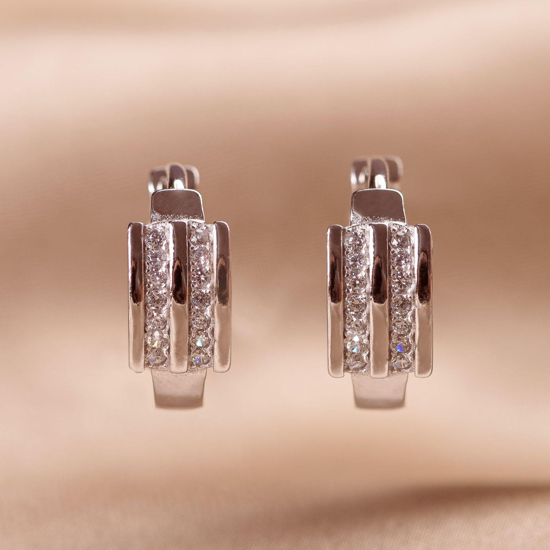 Cercei argint Minimal Classy zirconia
