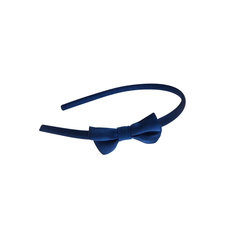 Headband bleumarin cu fundiţă