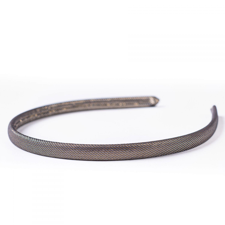 Headband copper lurex silk