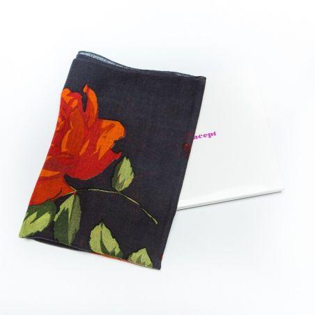 Wool Scarf Mila Schon black roses