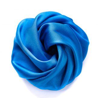 Navy blue silk Hair Rose