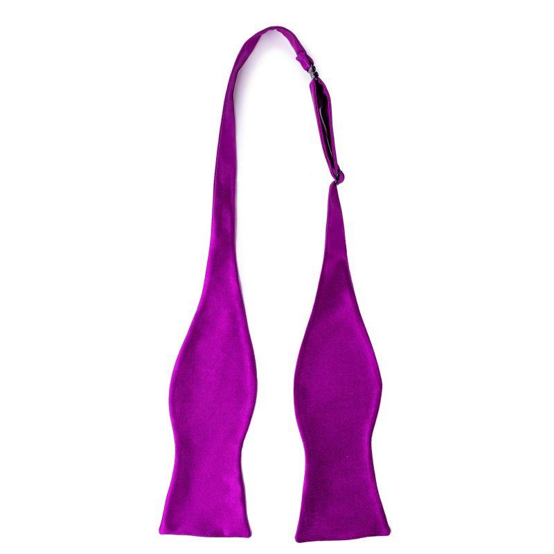 Self-Tie Bow Tie Silk magenta