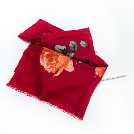 Wool Scarf Mila Schon bordo roses